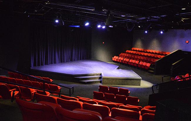 Black box theatre stage