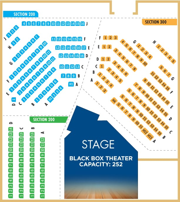 black box seating chart